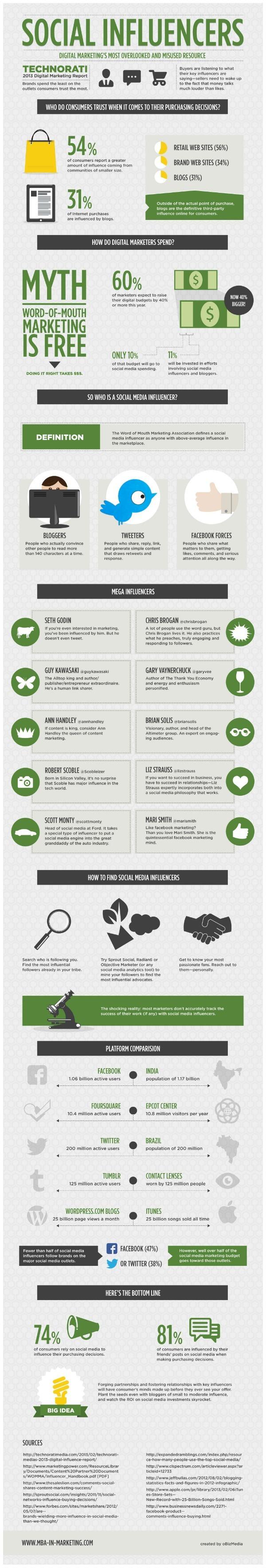 Understanding social influencers