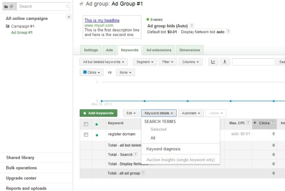 adwords search terms